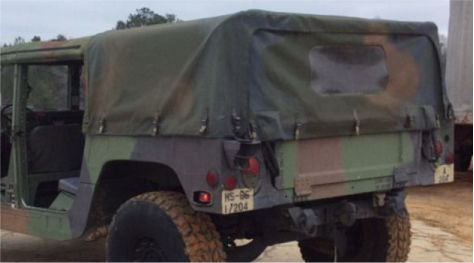 Hmmwv Humvee Four Man 4 Rear Cargo Soft Top With Rear