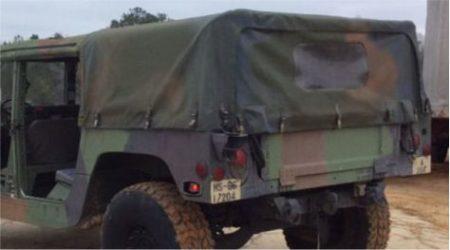 HMMWV (Humvee) Four-Man (4) Rear Cargo Kit 12340765, 57K3499, 57K0158,  57K3499-BLK (Cargo Cover, Rear Window, Bows and Hardware) - MFG 2019