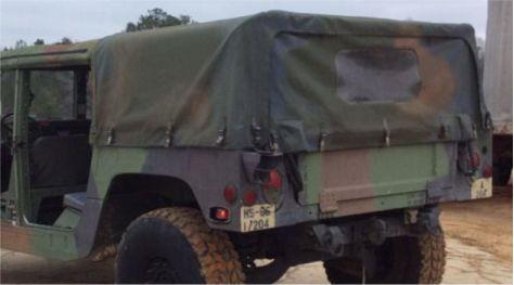 Hmmwv Humvee Four Man 4 Rear Cargo Soft Top With Rear
